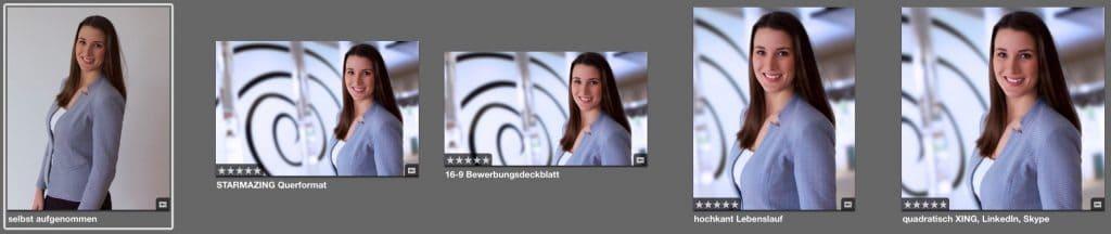 Das Bewerbungsfoto selber machen gelingt mit STARMAZING so eindrucksvoll, wie nach einem exklusivem Fotoshooting in einer modernen Business Umgebung. Dafür reicht ein vorhandenes Porträt Foto in Bewerber Pose und ein Upload auf STARMAZING.de . So kann man Bewerbungsfotos perfekt online gestalten, ohne das Haus zu verlassen. Nach dem Hochladen erhält man Bewerbungsfoto im Querformat, Bewerbungsbild im Format 16:9 für das Bewerbungsdeckblatt, Bewerbungsfoto hochkant für den Lebenslauf und ein Bewerbungsfoto quadratisch optimiert für XING, LinkedIn, Skype und viele andere Apps.