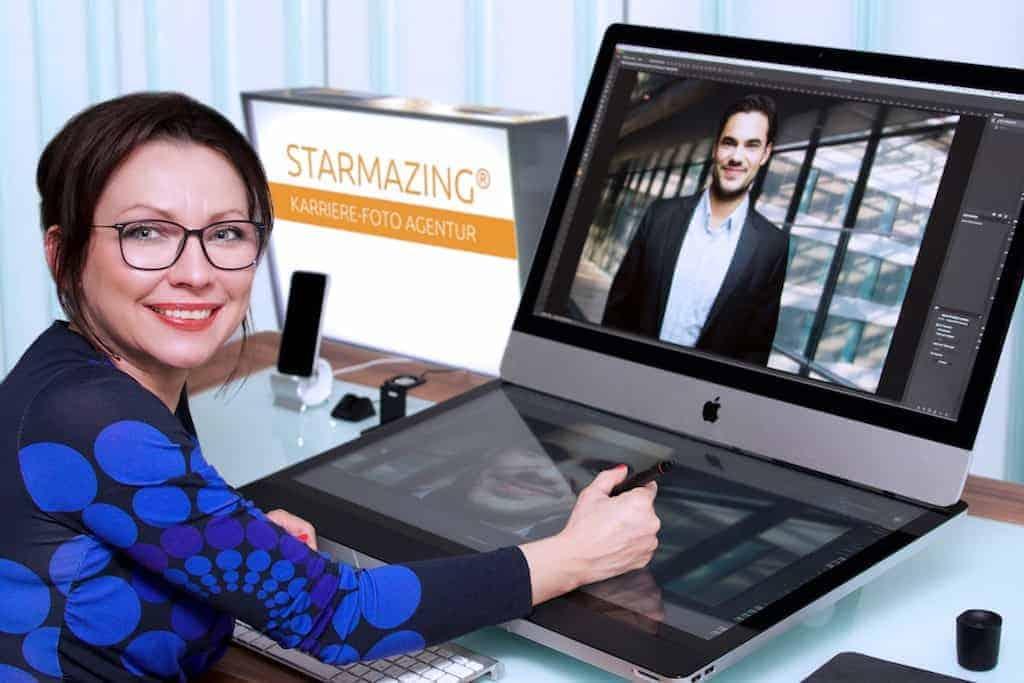 Die Fotoagentur STARMAZING bringt nicht die Person zum passenden Hintergrund, sondern den perfekten Business-Hintergrund zur Person. Und zwar passend zu Branche und Position. Das spart Zeit und Aufwand. Dank STARMAZING gehören teure und aufwendige Business Fotoshootings der Vergangenheit an. Ein Bildupload auf www.STARMAZING.de genügt für den perfekt inszenierten Geschäftsauftritt.