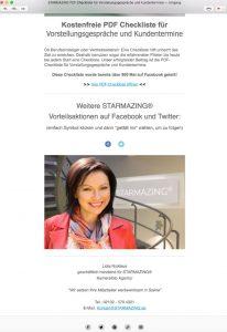 Das Mitarbeiterfoto als Autorenfoto in der Fußzeile eines Newsletters erhöht die Kundenbindung mit jedem Versand eines Newsletters durch einen optisch persönlichen Bezug zum Autor.