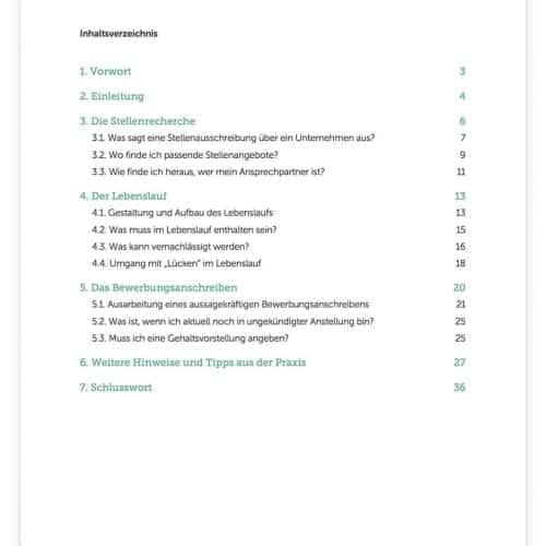 """Inhaltsverzeichnis E-Book Download: """"Bewerbungsunterlagen erstellen"""". Beantwortet: Wie gestalte ich einen Lebenslauf? Wie wird mein Bewerbungsschreiben aussagekräftig? Ein Grundstein zur perfekten Bewerbung"""