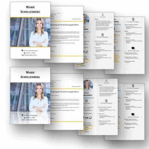 """Doppel-Komplett-Set 2x4 Seiten CV Lebenslauf Download: Die Bewerbungsvorlage """"Attention Express"""" vermittelt mit wenigen Worten alle relevanten Kenntnisse und Erfahrungen. Die grafischen Icons erleichtern Personalern die Sichtung und beschleunigen so die Inhaltsvermittlung. #CV #Lebenslauf #Bewerbung"""
