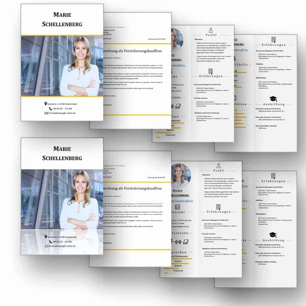 """Doppel-Komplett-Set 2x4 Seiten CV Lebenslauf Download: Die Bewerbungsvorlage """"Attention Express"""" vermittelt mit wenigen Worten alle relevanten Kenntnisse und Erfahrungen. Die grafischen Icons erleichtern Personalern die Sichtung und beschleunigen so die Inhaltsvermittlung. Lebenslauf, CV, Bewerbungsvorlage für die moderne Bewerbung als Download."""
