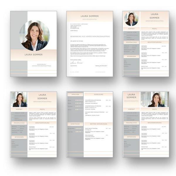 Diese Bewerbungsvorlage ist modern strukturiert und signalisiert: Wer sich so präsentiert, verkauft auch sein künftiges Unternehmen erstklassig. Das sehen Personaler sofort. Dieses CV Lebenslauf Layout ist in 3 Varianten optimiert für rechteckige, quadratische und runde Bewerbungsfotos. 3x4 Seiten als Download für Word und Pages. Lebenslauf, CV, Bewerbungsvorlage für die moderne Bewerbung als Download.