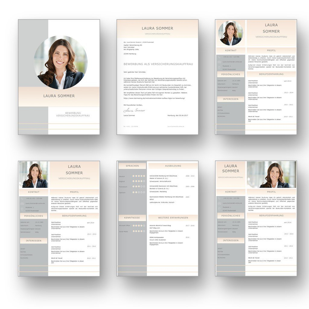 Bewerbungsvorlage Cv Golden Candidate In Deutsch Download