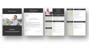 Ein gelungenes CV Beispiel für eine moderne Bewerbung über 4 Seiten. Der Lebenslauf ist klar strukturiert und signalisiert, dass der Bewerber mit modernen Medien absolut vertraut ist. Die komplette Bewerbungsvorlage als Download für MAC und WINDOWS auf STARMAZING.de. Lebenslauf, CV, Bewerbungsvorlage für die moderne Bewerbung als Download.