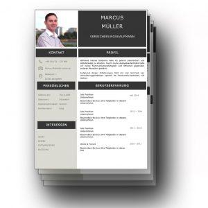 Ein Lebenslauf Design mit Kurzprofil gibt dem Personaler einen ersten Eindruck über den Bewerber, mit dem dieser bereits in den ersten Sekunden punkten kann. Es handelt sich hierbei um eine kleine Zusammenfassung über die bisher wichtigsten Positionen des Bewerbers. Lebenslauf, CV, Bewerbungsvorlage für die moderne Bewerbung als Download.