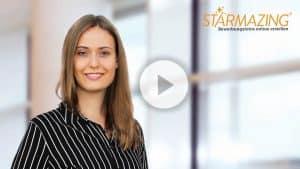 Bewerbungsfoto selber machen mit STARMAZING Video: So wird aus einem selbst gemachten Foto ein professionelles Bewerbungsfoto. Ohne das Haus zu verlassen und ohne Fotograf!