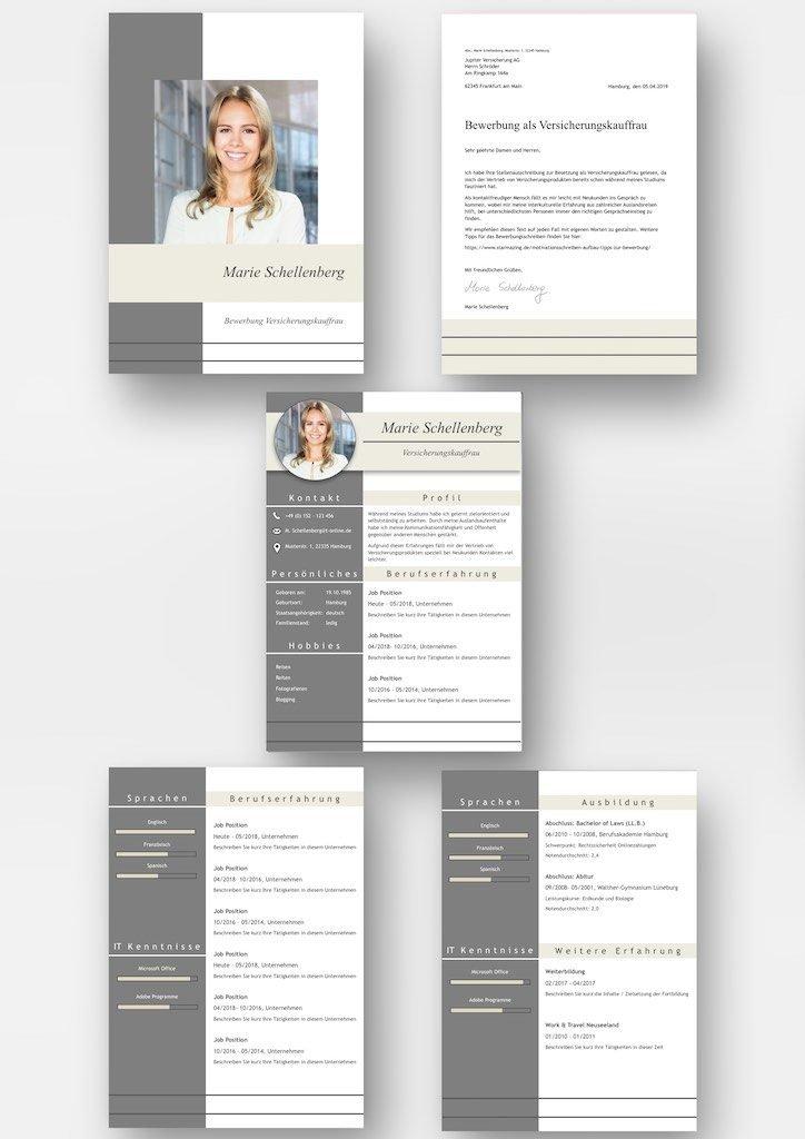 """Komplett-Set: CV Lebenslauf Download: Die Bewerbungsvorlage """"Full Attention"""" überzeugt von Beginn an. Das moderne Design über 5 Seiten hinweg verleiht Ihnen einen eindrucksvollen ersten Eindruck, wobei Ihre Erfahrungen im Mittelpunkt stehen. Die Bewerbungsvorlage ist gut geeignet für Berufserfahrene, da der Lebenslauf mit einer zweiten Folgeseite zusätzlichen Platz für vorherige berufliche Stationen bietet. Lebenslauf, CV, Bewerbungsvorlage für die moderne Bewerbung als Download"""