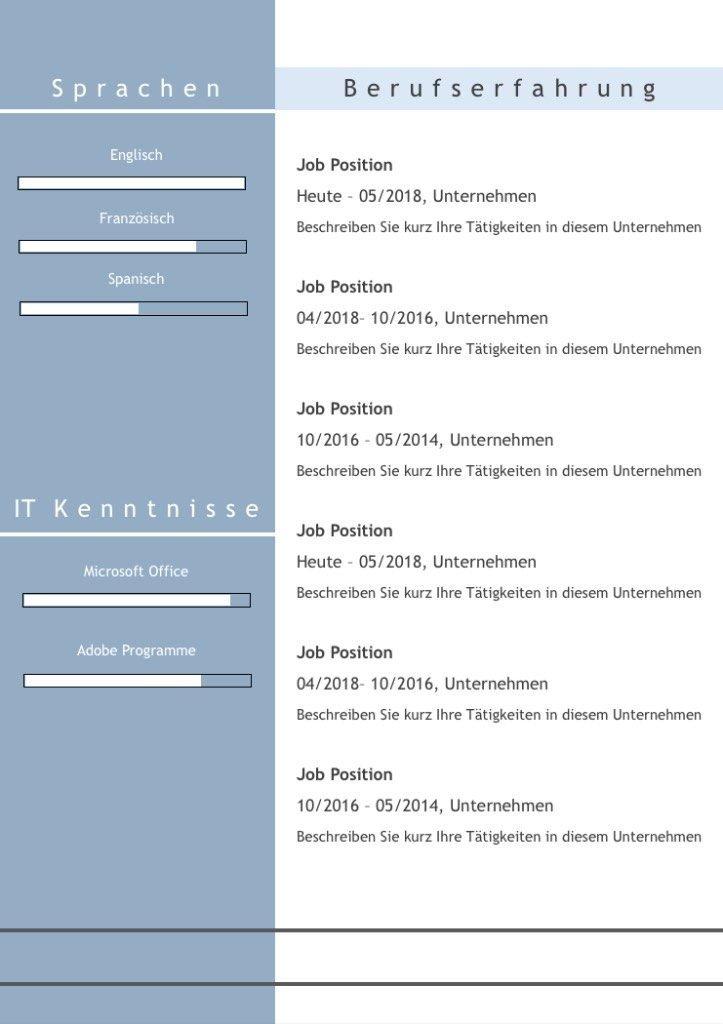 """CV Lebenslauf Download: Die Bewerbungsvorlage """"Full Attention"""" überzeugt von Beginn an. Das moderne Design über 5 Seiten hinweg verleiht Ihnen einen eindrucksvollen ersten Eindruck, wobei Ihre Erfahrungen im Mittelpunkt stehen. Die Bewerbungsvorlage ist gut geeignet für Berufserfahrene, da der Lebenslauf mit einer zweiten Folgeseite zusätzlichen Platz für vorherige berufliche Stationen bietet. Lebenslauf, CV, Bewerbungsvorlage für die moderne Bewerbung als Download."""