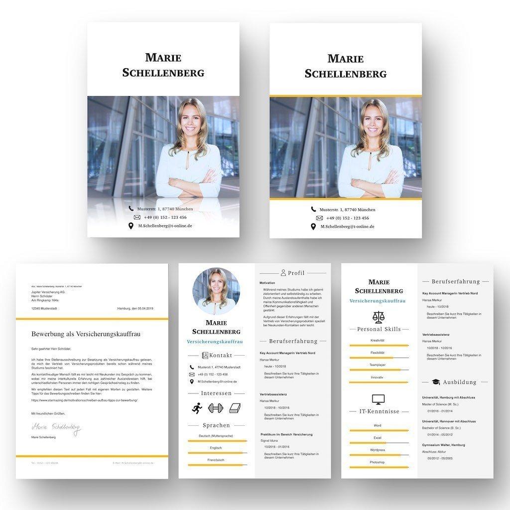 """CV Bewerbungsvorlage mit Icons und Profil im Lebenslauf als Download: Die Bewerbungsvorlage """"Attention Express"""" vermittelt mit wenigen Worten alle relevanten Kenntnisse und Erfahrungen. Die grafischen Icons erleichtern Personalern die Sichtung und beschleunigen so die Inhaltsvermittlung. Lebenslauf, CV, Bewerbungsvorlage für die moderne Bewerbung als Download für Word und Pages mit 2 Deckblatt-Varianten."""