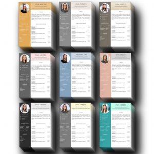 Perfektes Lebenslauf Design. 9 wirkungsvolle Farbkombinationen. Insgesamt 54 Seiten Download für Windows Word und MAC Pages: Perfekte Bewerbungsvorlagen-Layouts ideal für viel Berufserfahrung. Highlights: Anschreiben nach DIN 5008 Norm, visualisierter Europäischer Referenzrahmen zur Angabe der Sprachkenntnisse. Erweiterte Bereiche für Profil, Charaktereigenschaften um Persönlichkeit darzustellen. Zusätzliche flexible Seite für Auslandserfahrung, Praktikum, Referenzen, Ausbildung + Bildungsweg.