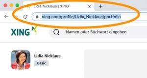 Diese Anleitung zeigt, wie Sie den XING-Link zu Ihrem Profil kopieren und weitergeben können, um Personaler aus Ihrer Bewerbung heraus direkt auf Ihr XING-Profil zu führen. Im Browser finden Sie den Link zu Ihrem XING-Profil.