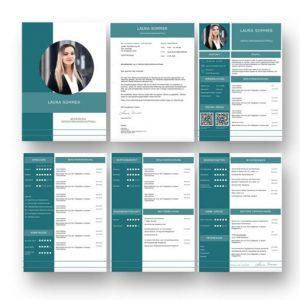 Modern und hochwertig bewerben. Perfekte Bewerbungsvorlage mit Kurzprofil und zusätzlichen Social Media QR Codes für besten Eindruck auf Personaler. Funktioniert mit PC, MAC und speichert alles als PDF zum Versand als E-Mail Bewerbung oder ausgedruckt: Jetzt hier downloaden.