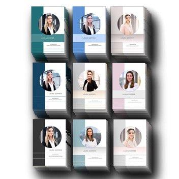 Perfekt Gelungen: Lebenslauf CV Design in beliebten Trendfarben: Perfekt für das Bewerbungsfoto