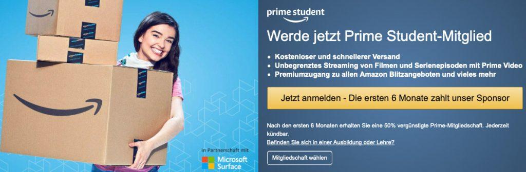 Mit Amazon Prime Students kostenloser und schnelleren Amazon Versand erhalten und dazu Streaming von Filmen und Serien mit Prime Video als Student kostenlos bekommen.