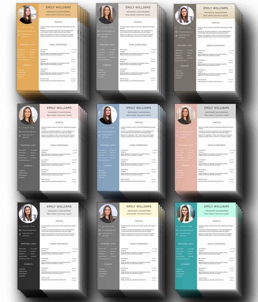 Vorbildlich: Diese CV Bewerbungsvorlagen sind perfekt aufgeräumt, der Lebenslauf modern gestaltet und alles komplett in englisch verfasst. Ideal um sich in englischer Sprache auf Jobs in Deutschland, Österreich, Schweiz und Europa zu bewerben.