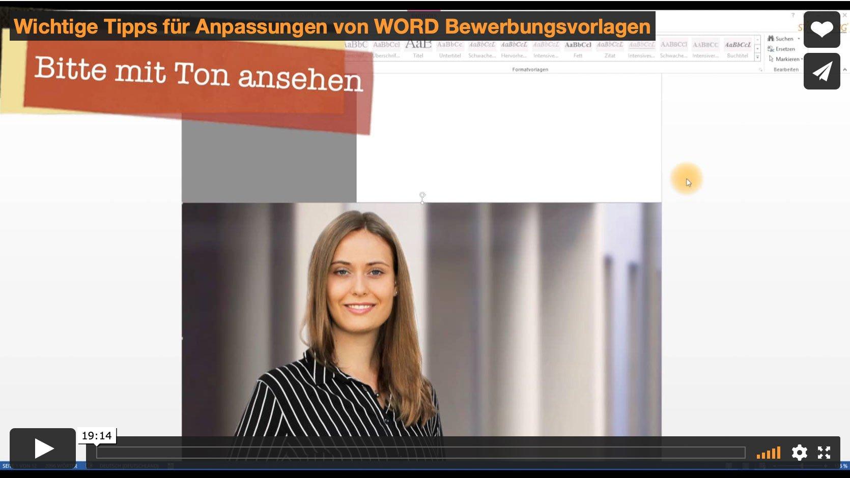 Video-Anleitung: Perfekte Bewerbungen mit WORD gestalten Image