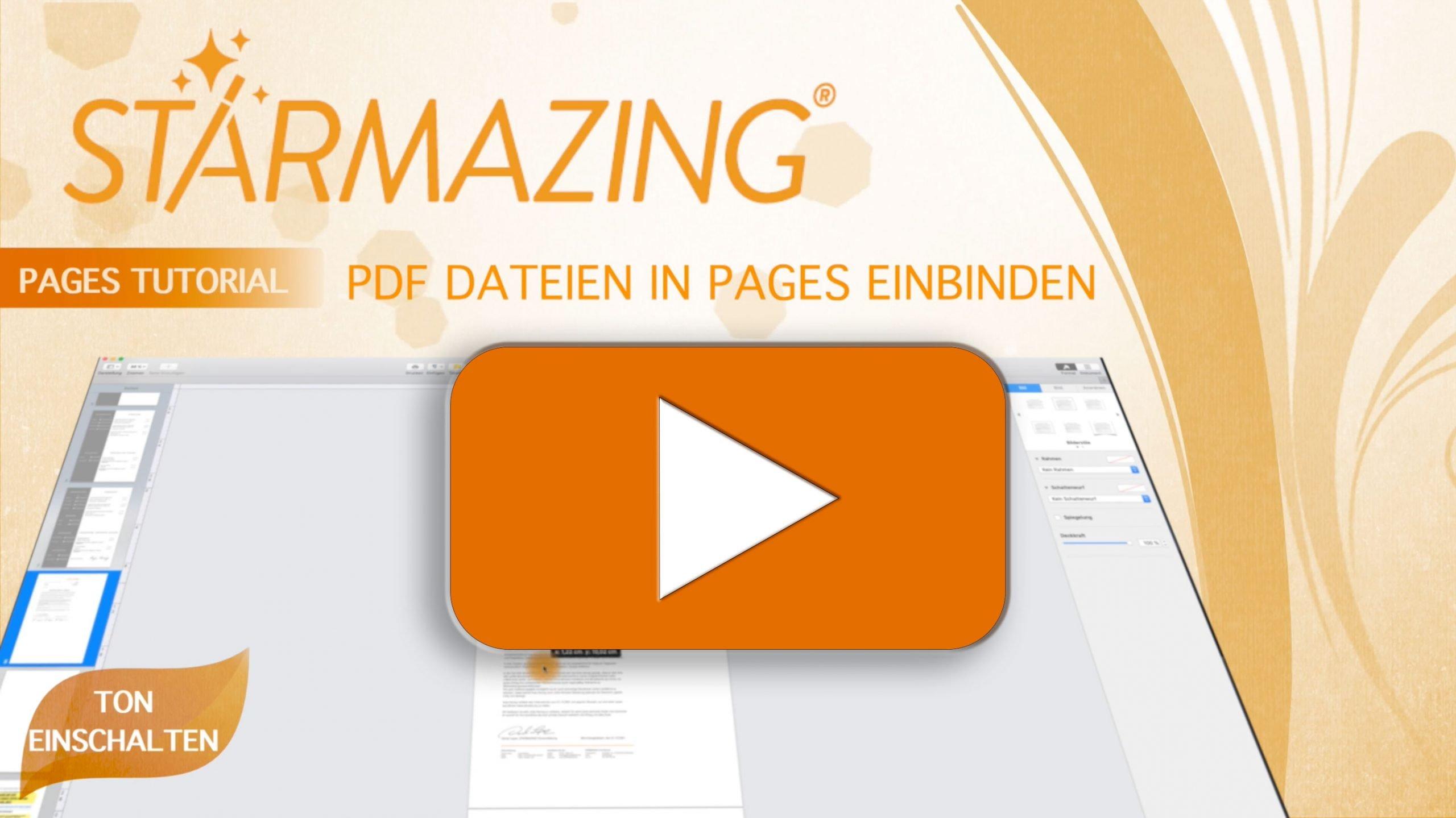 Video Tutorial für PAGES: Mit Pages einseitige und mehrseitige PDFs einbauen und am Ende alles als eine einzige PDF Datei speichern. Dies ist nützlich, wenn Sie Bewerbungen schreiben und Anhänge wie Arbeitszeugnisse in einem einzigen PDF zusammen mit der Bewerbung versenden möchten und nicht als separates PDF. Klicken Sie auf das Video und erfahren Sie Schritt für Schritt, wie es funktioniert. Tipp: Video auf Vollbildmodus stellen, damit Sie alles prima sehen können.