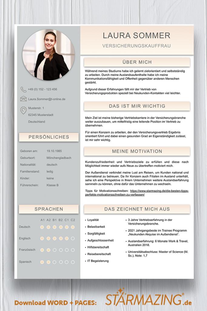 Perfekte und moderne Design Bewerbungsvorlage von STARMAZING: Seite 1: Bewerbungsdeckblatt Seite 2: Bewerbungsanschreiben Seite 3: CV Lebenslauf mit Profil Seite 4: CV Lebenslauf Folgeseite Seite 5: Flexible Zusatzseite / Weiterbildung Seite 6: Bildungsweg Seite 7: CV Kompakt Seite Seite 8: Motivationsschreiben Seite 9: Initiativbewerbung / OnePager Homeoffice Möglichkeit, Reisebereitschaft, Persönlichkeitsdarstellung, Kenntnisse und zeitliche Verfügbarkeit werden eindrucksvoll grafisch präsentiert. Mit Social Media QR Codes. Alle Schriften ohne Installation dabei. Download: www.STARMAZING.de/bewerber-shop
