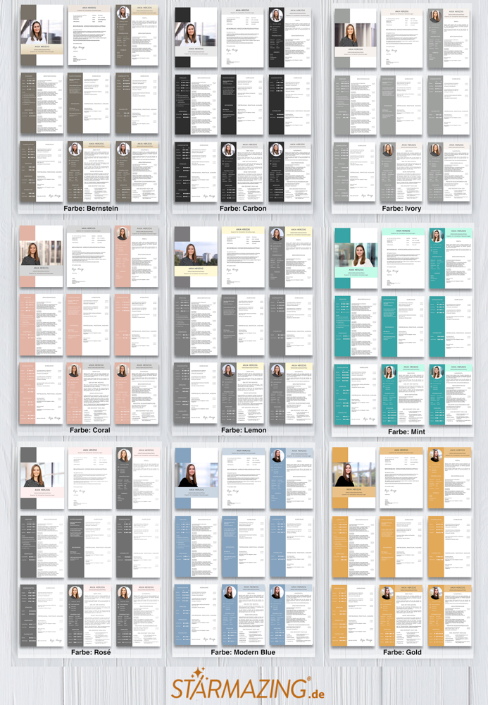Vorbildlich: So sieht eine perfekte Bewerbung. Diese CV Bewerbungsvorlagen sind perfekt aufgeräumt, der Lebenslauf modern gestaltet und in deutsch verfasst. Ideal um sich auf Jobs in Deutschland, Österreich, Schweiz und Europa zu bewerben.